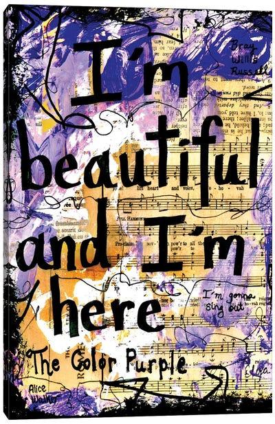 Beautiful Color Purple Canvas Art Print