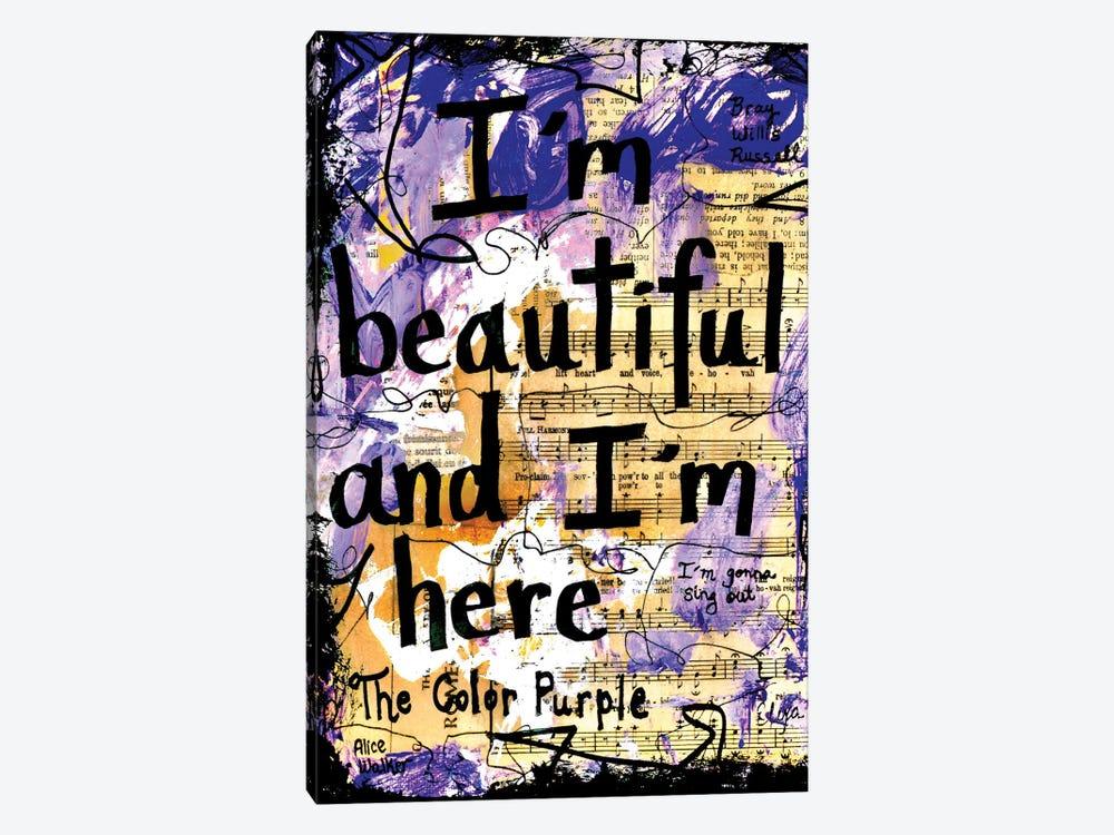 Beautiful Color Purple by Elexa Bancroft 1-piece Canvas Art