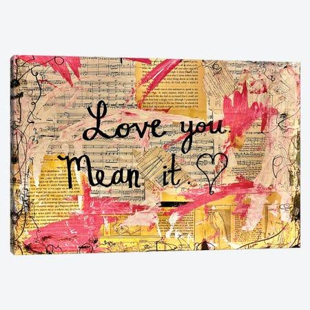 Love You, Mean It Canvas Print #EXB115} by Elexa Bancroft Canvas Print
