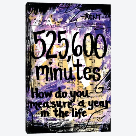 525,600 Minutes From Rent Canvas Print #EXB117} by Elexa Bancroft Art Print