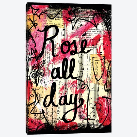 Rose All Day Canvas Print #EXB119} by Elexa Bancroft Canvas Art