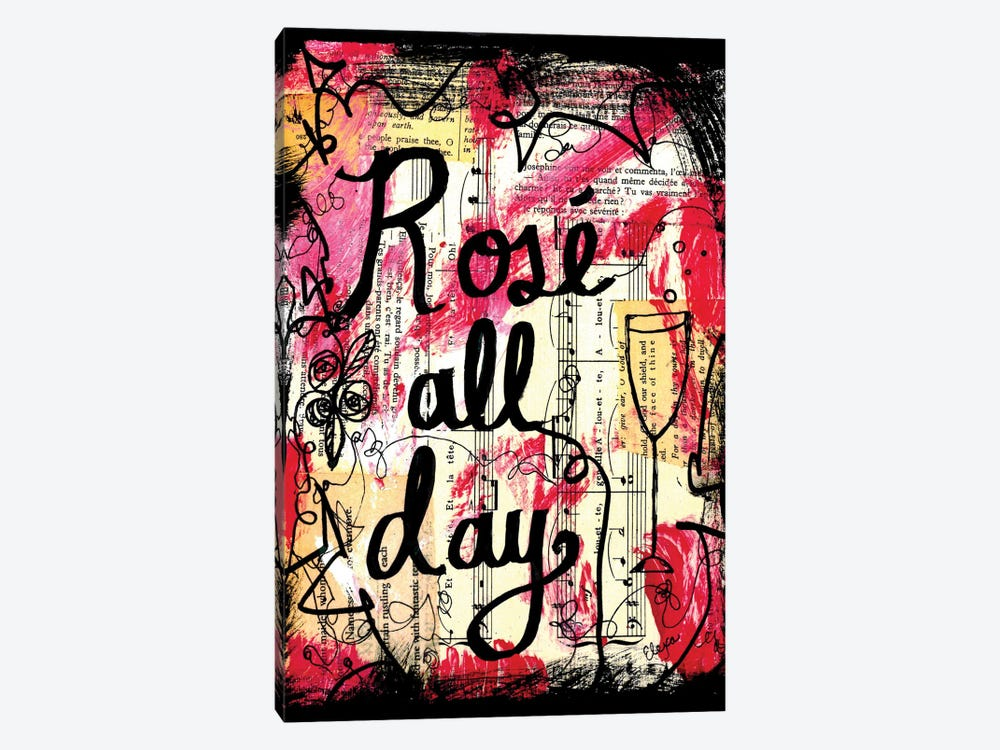 Rose All Day by Elexa Bancroft 1-piece Canvas Print