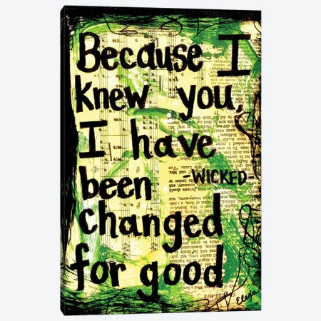Because I Knew You Wicked Canvas Print #EXB11} by Elexa Bancroft Canvas Art