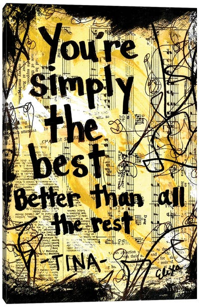 The Best By Tina Turner Canvas Art Print
