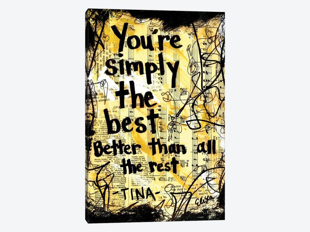 The Best By Tina Turner by Elexa Bancroft 1-piece Canvas Art Print