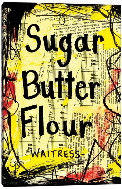 Sugar Butter Flour From Waitress Canvas Art Print