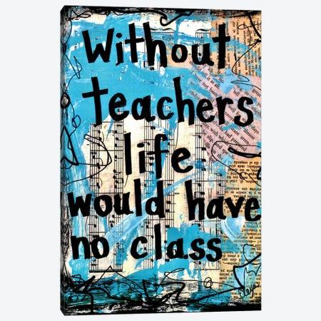 Teachers Class Canvas Print #EXB122} by Elexa Bancroft Art Print