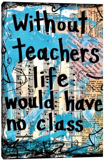 Teachers Class Canvas Art Print