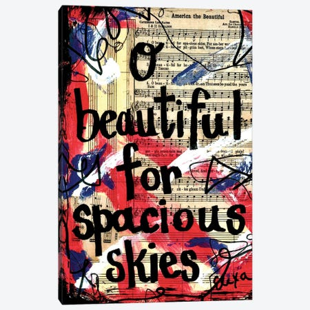 O Beautiful America Canvas Print #EXB12} by Elexa Bancroft Canvas Wall Art
