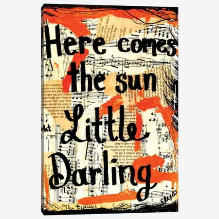 Here Comes The Sun By Beatles Canvas Print #EXB14} by Elexa Bancroft Canvas Print