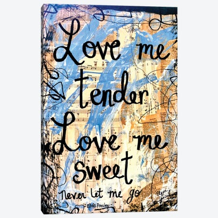 Love Me Tender By Elvis Canvas Print #EXB16} by Elexa Bancroft Canvas Art Print