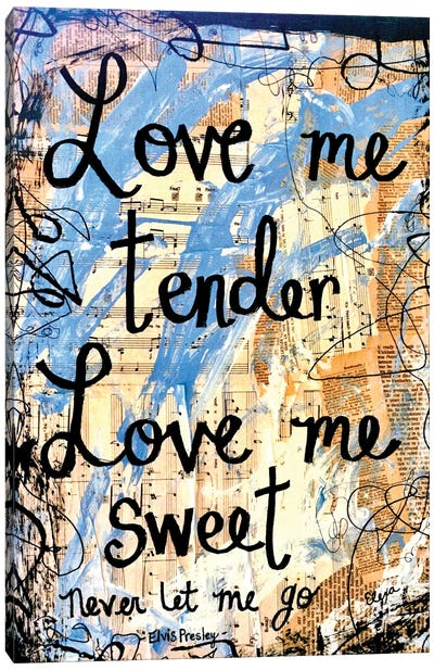 Love Me Tender By Elvis Canvas Art Print
