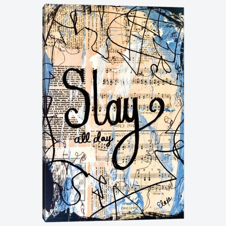 Slay All Day Canvas Print #EXB17} by Elexa Bancroft Art Print
