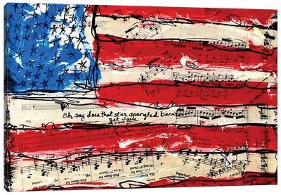 Oh Say American Flag Canvas Art Print