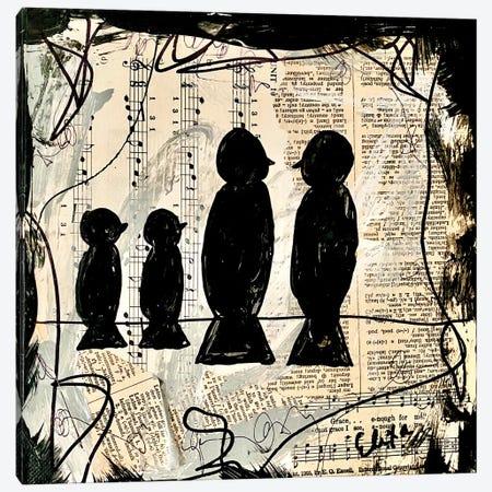 Four Songbirds Canvas Print #EXB20} by Elexa Bancroft Canvas Art Print
