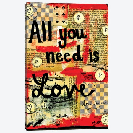 All You Need Is Love By Beatles Canvas Print #EXB23} by Elexa Bancroft Art Print