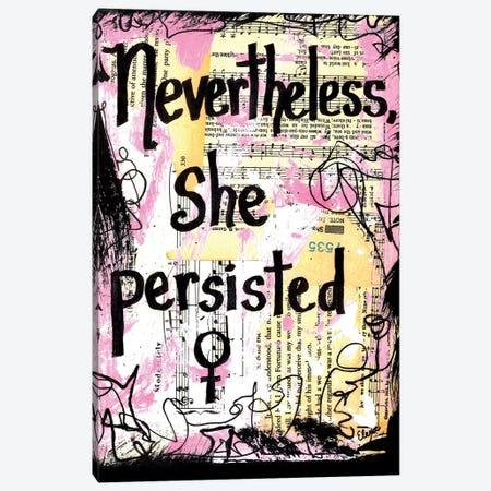 Nevertheless She Persisted Canvas Print #EXB29} by Elexa Bancroft Art Print
