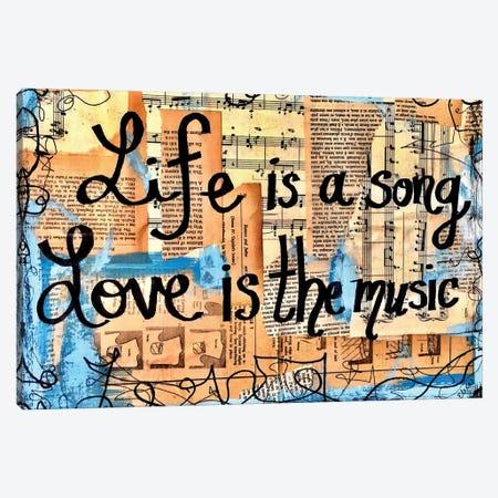 Love Is The Music Canvas Print #EXB33} by Elexa Bancroft Canvas Wall Art