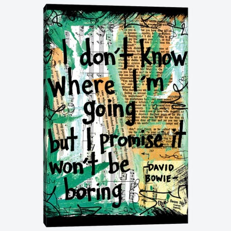 Where I'm Going Bowie Canvas Print #EXB34} by Elexa Bancroft Canvas Print