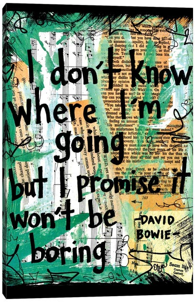 Where I'm Going Bowie Canvas Art Print