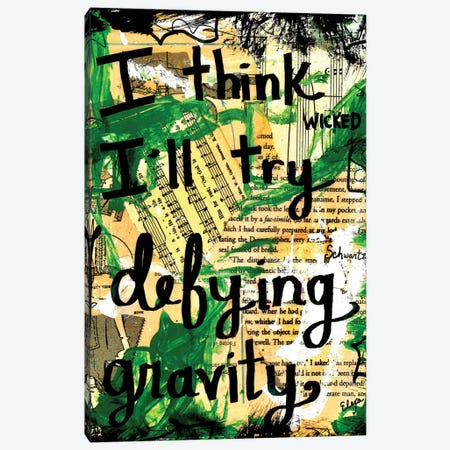 Defying Gravity Wicked Canvas Print #EXB35} by Elexa Bancroft Art Print
