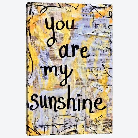 You Are My Sunshine Canvas Print #EXB39} by Elexa Bancroft Canvas Wall Art