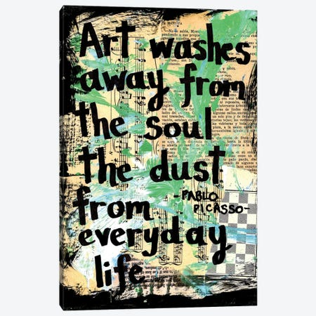 Art Soul Picasso Canvas Print #EXB41} by Elexa Bancroft Canvas Print