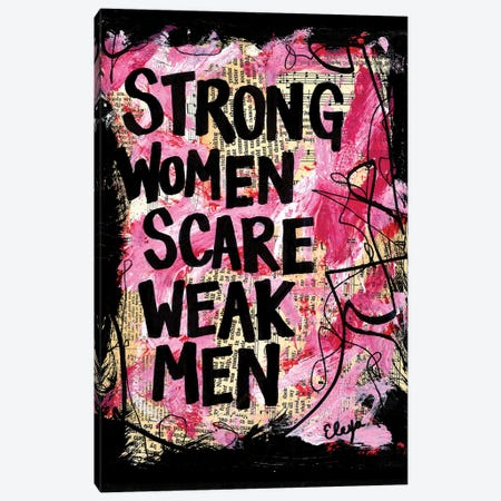 Strong Women Canvas Print #EXB54} by Elexa Bancroft Art Print