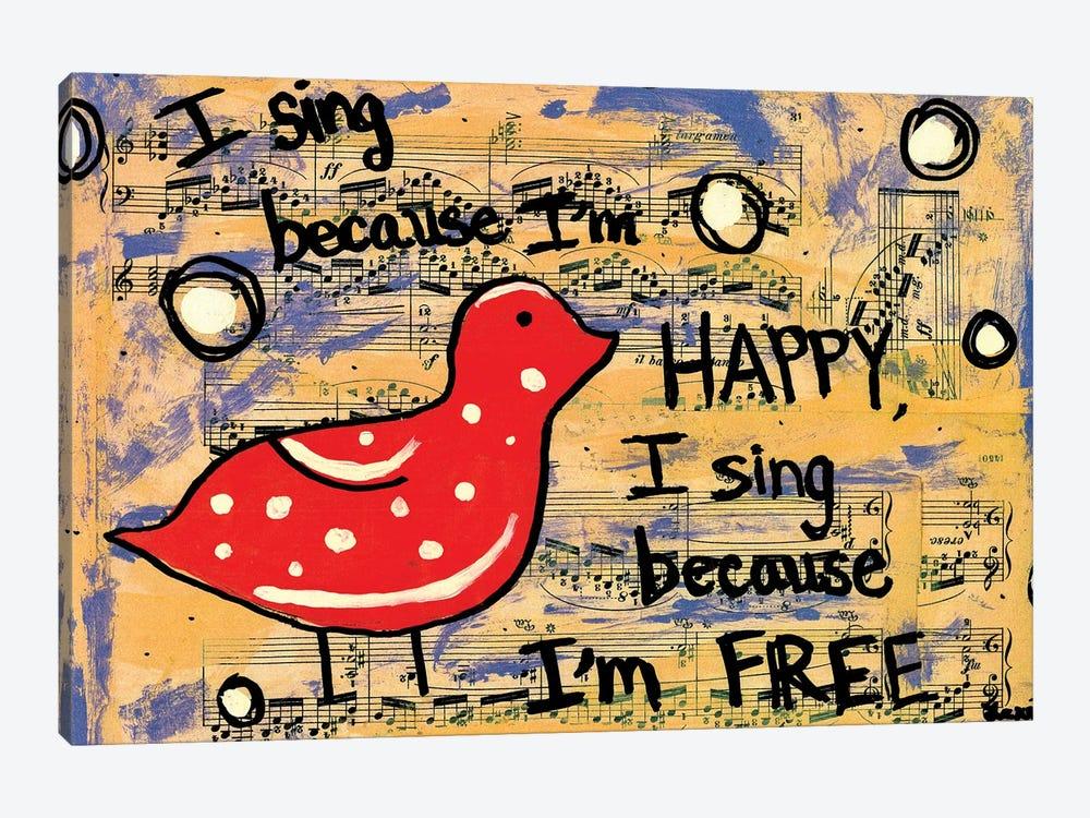 I Sing by Elexa Bancroft 1-piece Canvas Wall Art