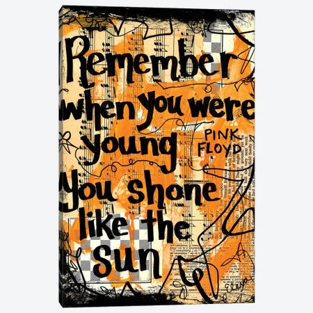 Shone Like The Sun By Pink Floyd Canvas Print #EXB56} by Elexa Bancroft Art Print