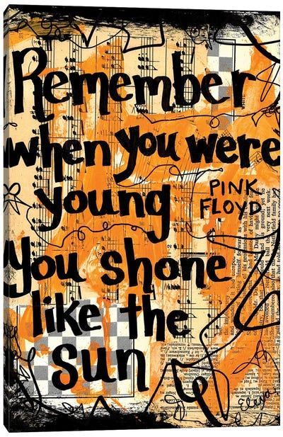 Shone Like The Sun By Pink Floyd Canvas Art Print