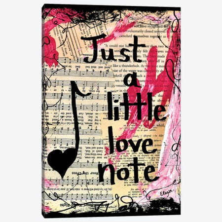 Love Note Canvas Print #EXB57} by Elexa Bancroft Canvas Print