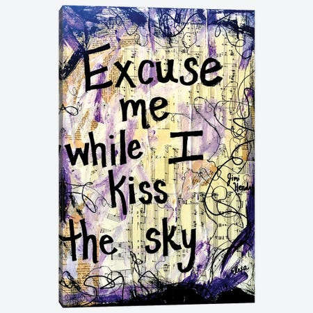 Kiss The Sky By Jimi Hendrix Canvas Print #EXB58} by Elexa Bancroft Canvas Artwork