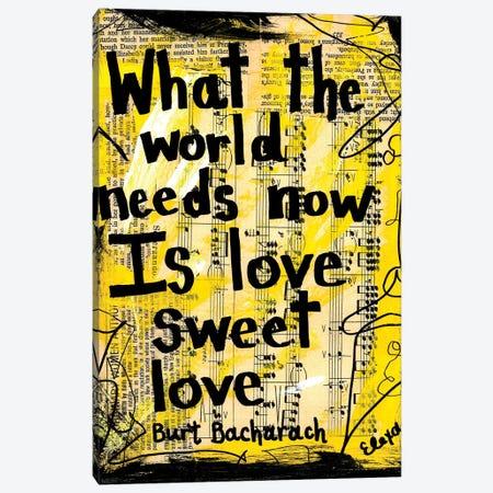 World Needs Love By Burt Bacharach Canvas Print #EXB62} by Elexa Bancroft Canvas Art Print