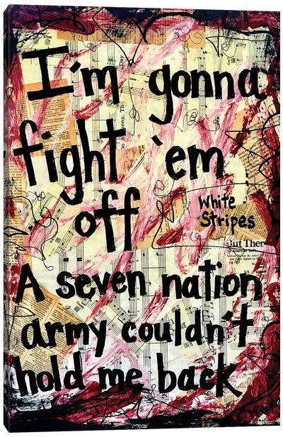 Seven Nation Army By White Stripes Canvas Art Print