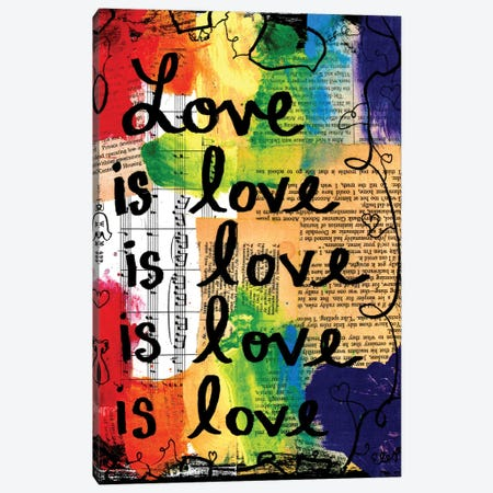 Love Is Love Canvas Print #EXB68} by Elexa Bancroft Canvas Art Print