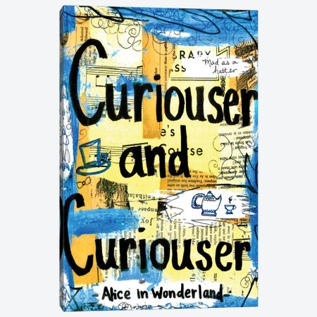 Curiouser From Alice In Wonderland Canvas Print #EXB69} by Elexa Bancroft Canvas Art Print