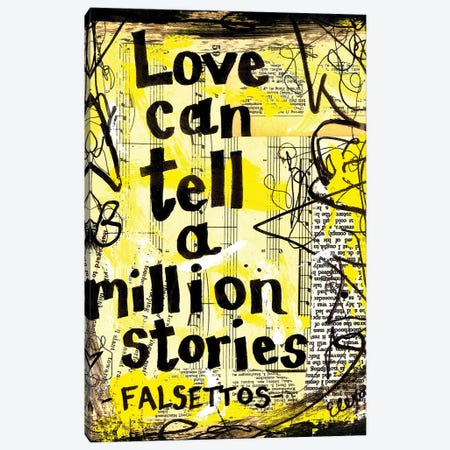 Love Falsettos Canvas Print #EXB73} by Elexa Bancroft Canvas Artwork
