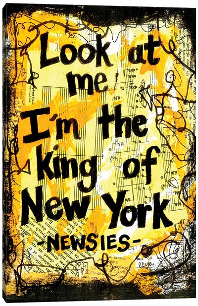 King Of New York From Newsies Canvas Art Print