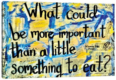 Something To Eat Winne The Pooh Quote Canvas Art Print