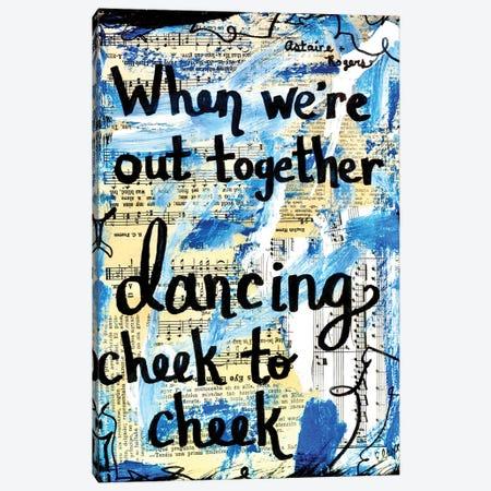 Cheek To Cheek Canvas Print #EXB77} by Elexa Bancroft Canvas Print