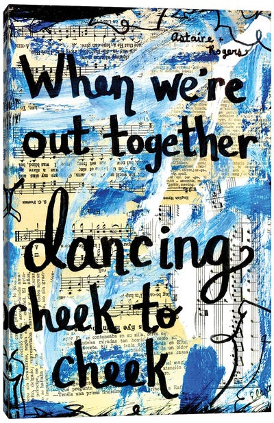 Cheek To Cheek Canvas Art Print