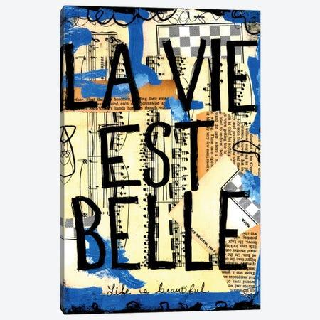 Life Is Beautiful French Canvas Print #EXB78} by Elexa Bancroft Canvas Art