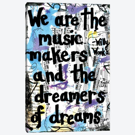 Dreamers Willy Wonka Quote Canvas Print #EXB79} by Elexa Bancroft Canvas Artwork