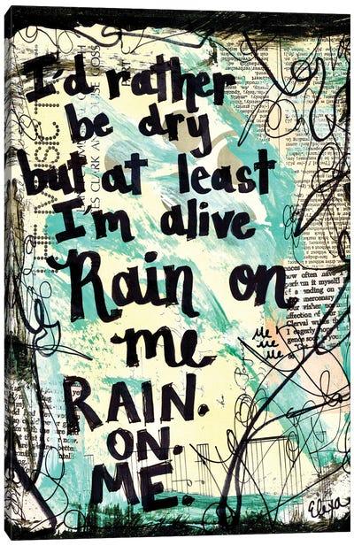 Rain On Me By Lady Gaga Canvas Art Print