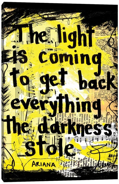 Light By Ariana Grande Canvas Art Print