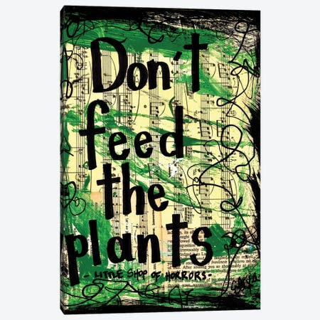 Don't Feed The Plants From Little Shop Of Horrors Canvas Print #EXB85} by Elexa Bancroft Canvas Artwork