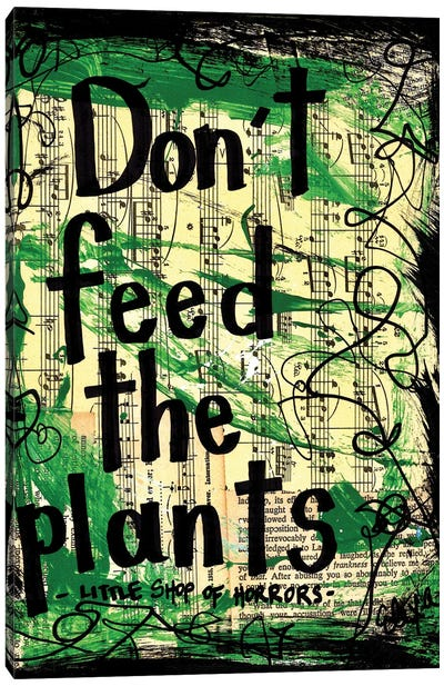 Don't Feed The Plants From Little Shop Of Horrors Canvas Art Print