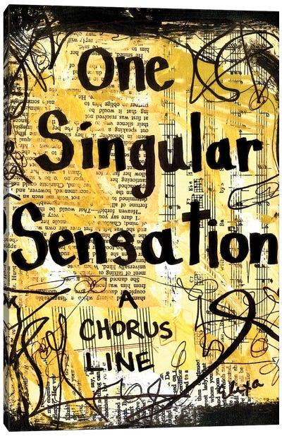 Sensation From Chorus Line Canvas Art Print
