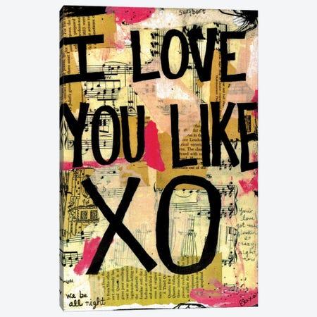 Love You Like XO Beyonce Canvas Print #EXB87} by Elexa Bancroft Canvas Art